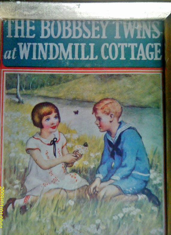 Vintage Bobbsey Twins  Art Book Cover / Childrens Art / Framed Book Cover