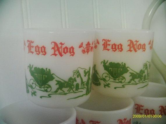 Vintage Cups / Hazel Atlas / Egg Nog