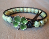 """RESERVED for VICKI -  """"a Clover in the Mint"""", green shamrock clover, irish celtic jewelry, lucky good luck charm, spring SALE"""
