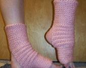Yoga Socks in ORGANIC Strawberry Pink Cotton