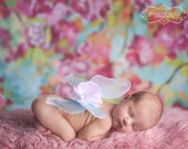 TREASURY FEATURED -- Periwinkle Baby Fairy Wings -- Baby, Children's -- Removable Straps Available -- Butterfly Photography Prop