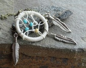 Dream Catcher Bracelet with Feathers (Smaller Version)