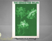 Greeting Card - Queen Anne's Lace Sunprint - You Choose the Color