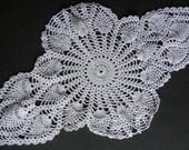 White Crochet Oblong Doily