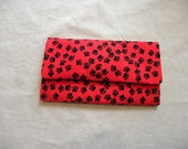 Red and Black Paw Billfold