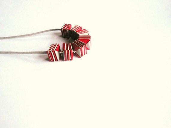 Paper necklace Allegria-  minimal geometric necklace- origami jewelry