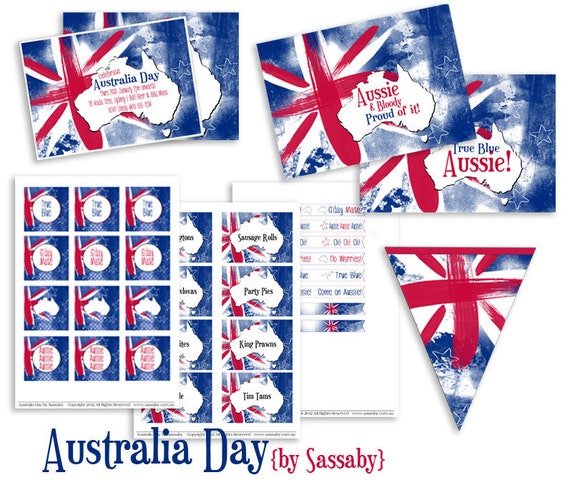 Australia day printables lifes little celebration for Australia day decoration ideas