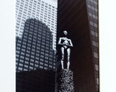 Fine Art Photography - Silver Gelatin Print of Robert Graham Statue, Los Angeles
