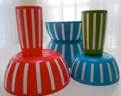 1960s DEKA plastic ware.  find these at the five and dime...............