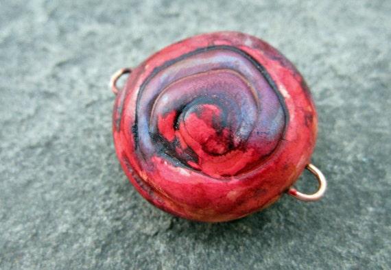 SALE half price Tye Dye Hippie Girl Hot Pink Purple Spiral Focal