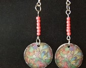 Dangle Earrings - Round Abstract