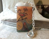 Two Birds of a Feather Zipper Pull /Purse Charm