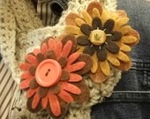 Dual Shawl Felted Brooches