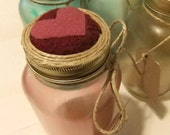 My Heart Felted Mason Jar Pincushion