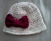 brim hat with bow