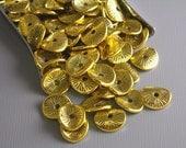 30% OFF - SPACER-GOLD-potatochip - 20 pcs Antique Gold Potato Chip Spacers