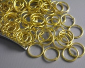 JUMPRING-GOLD-10MM - 50 of 10mm Gold Plated Open Jump Rings