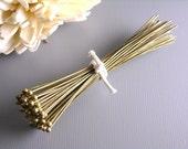 HEADPIN-AB-63MM - High Quality Antique Bronze Brass Ball End Headpins (22 guage) - 2.5 inches....50 pcs