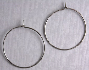 HOOP-GUNMETAL-WINE-25MM - 20 pcs of 25mm Wine Hoop Earrings in Gunmetal
