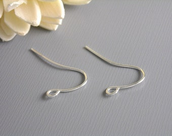 EARWIRE-SILVER-17MM - 50 pcs of 17mm Silver Plated Earwire