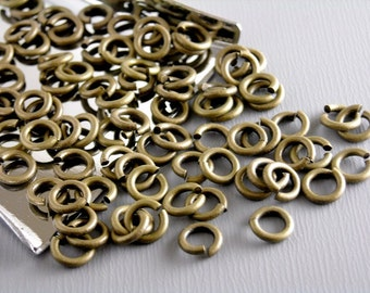 JUMPRING-AB-5MM - 50 of High Quality 5mm 20 gauge Antique Bronze Open Jump Rings