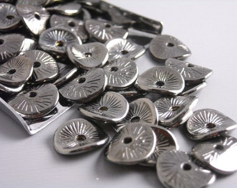 SPACER-GUNMETAL-POTATOCHIP - 20 pcs Gunmetal Potato Chip Spacers