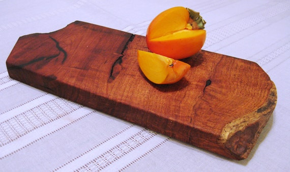 Wood Cutting Board / Serving Tray / Chopping Block - Natural Edge Salvaged Mesquite Wood (Can be personalized)