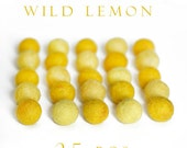 Order for Julie - Felt Balls wild Lemon 20 mm 25 pieces