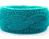 Wool bracelet - turquoise
