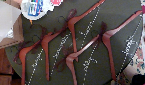Personalized bridal hangers for wedding dress or bridesmaid dresses