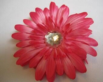 Crystal Gerbera Daisy Hairclip