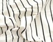 White Double Sided Stripe Daimaru Cotton Fabric, 1 Yard