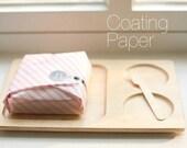100 Pink Stripe Coating Paper For Food Packaging