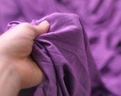 Violet Knit Jersey Silk Like Cotton Fabric, 1 Yard