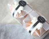 100 Translucent Black Dots Open End Gadget Cookie Bag,  8.5cm x 23cm x  6.5cm