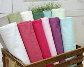 Solid Cotton Blended Linen Fabric, 1 Yard (Color Option)