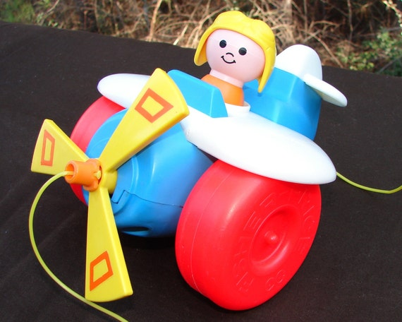 1980 Fisher Price Airplane Pull Toy 171