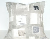 Dorm Decor -16x16 Cotton Pillow COVER- Industrial Gray and Tan