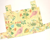 Walker Bag Pink Birds & Flora on Yellow  FREE DOMESTIC SHIPPING
