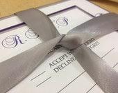 Custom order for Kristenpitney Purple and Silver Wedding Invitation