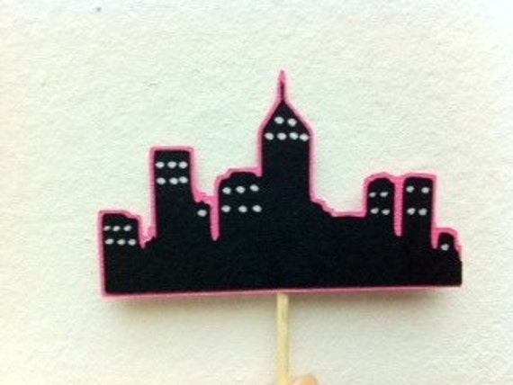 City Cupcake Toppers