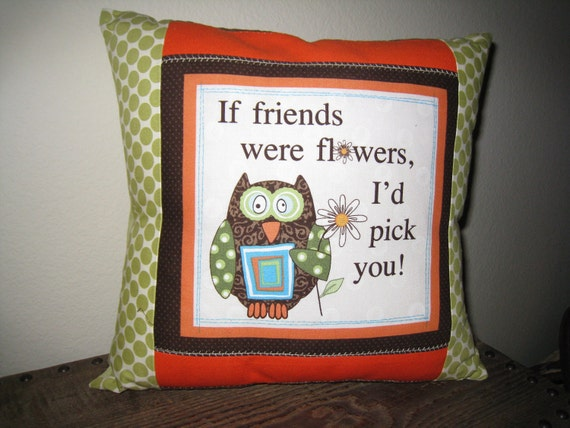 Custom listing for Donna Friends Owl Pillow