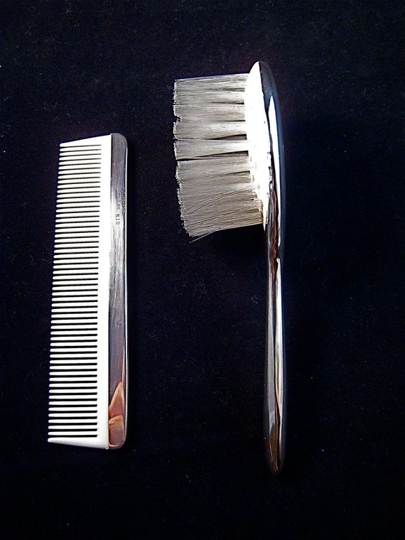 Reed & Barton Sterling Silver Brush and Comb Gift Set for Kid or Baby