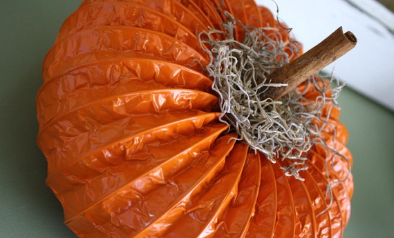 Large Orange Dryer Vent Pumpkin