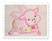 Flying Pig Applique