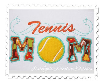 Tennis  Mom Applique with a Twist