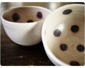 Oatmeal Polka Dot Bowl Set - Thanksgiving table setting, soup bowls, Woodland, Popcorn Bowl, Serving, Party, Cute