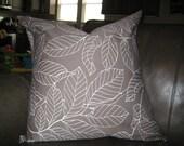 "Ikea Gray Print Pillow Cover - Set of 2 - 24"""