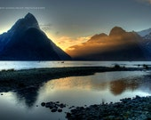 Fine art landscape photography. Milford Sounds, Fiordland, New Zealand 20 x 30 inch.
