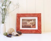 Rustic Red Picture Frame Wood
